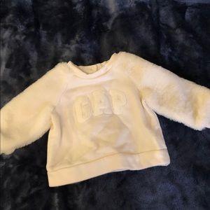 GAP fuzzy sleeve sweater